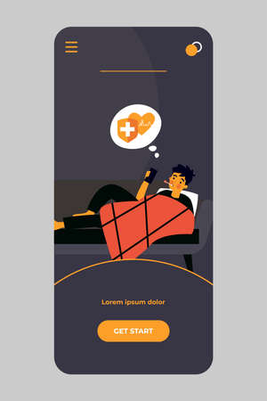 Sick man calling ambulance Ilustracje wektorowe