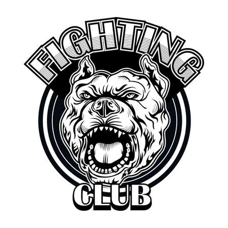 Fight club emblem with bulldog