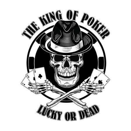 Gangster casino skull logo Logo