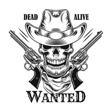 Wild west criminal vector illustration