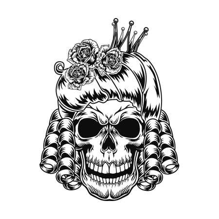 Skull of queen vector illustration