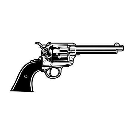 Old revolver illustration