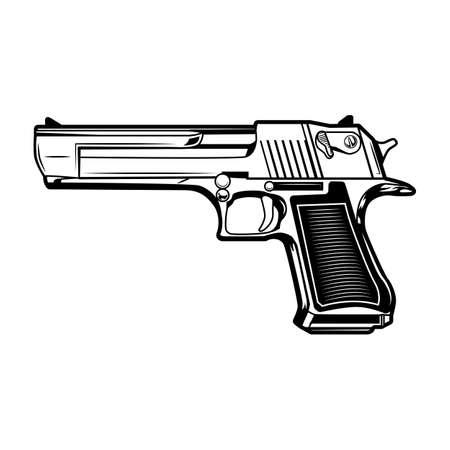 Pistol illustration
