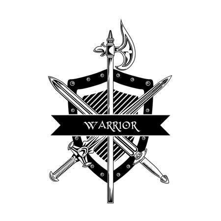 Knight weapon vector illustration Vector Illustration
