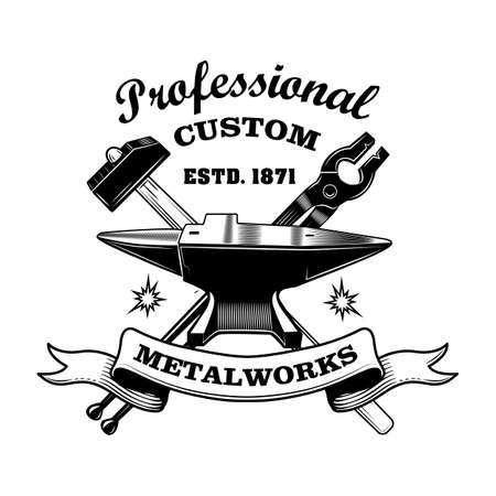 Blacksmiths tools vector illustration