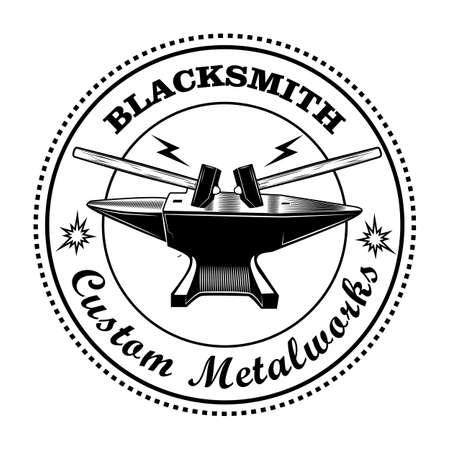 Blacksmith stamp vector illustration Vecteurs