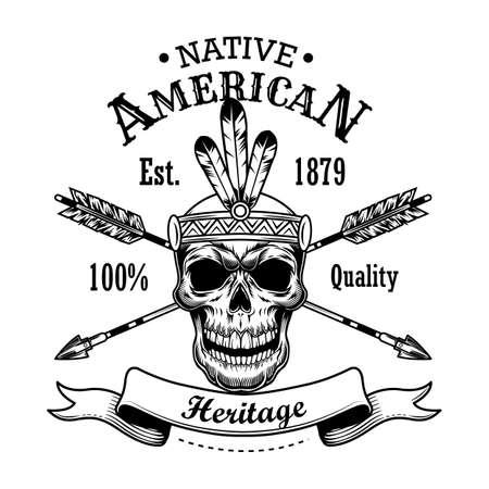 Native American heritage vector illustration Ilustración de vector