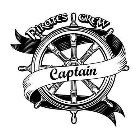 Ship insignia vector illustration