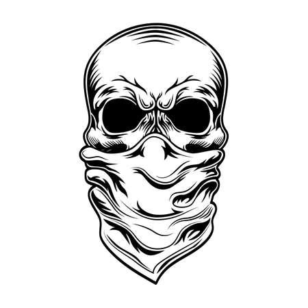 Criminal skull vector illustration