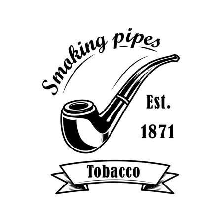 Tobacco shop label vector illustration