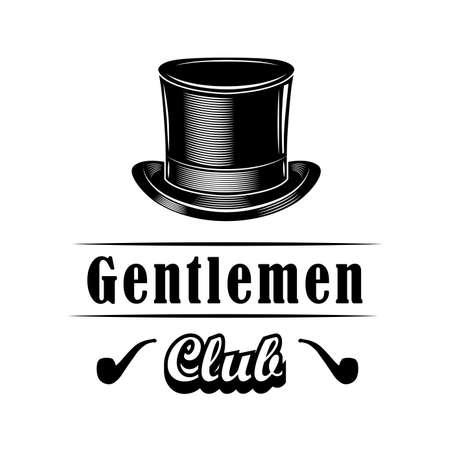 Gentlemen club emblem design vector illustration