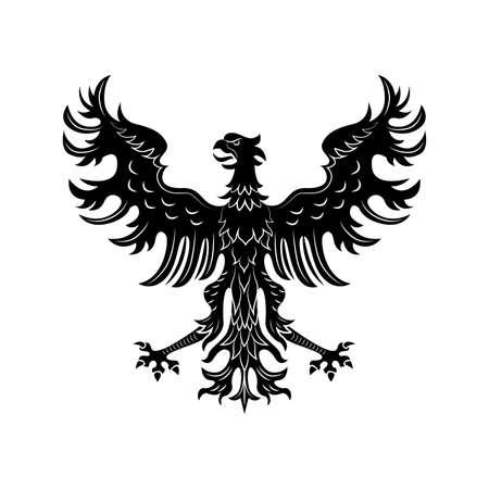 Heraldic eagle vector illustration Vettoriali