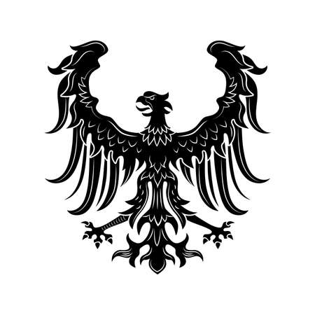 Severe heraldic eagle vector illustration 矢量图像