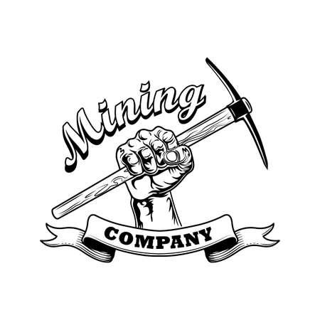Coal miners hand vector illustration