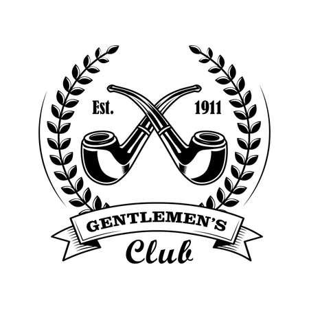 Gentleman club symbol vector illustration