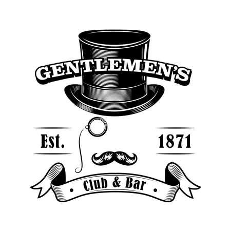 Gentlemens club label vector illustration Illusztráció