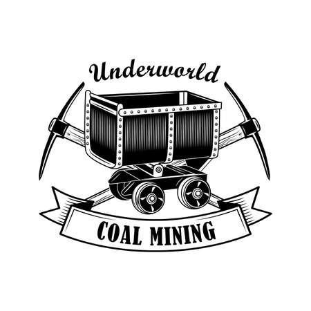 Miners tools vector illustration