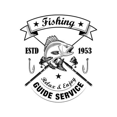 Fishing tools vector illustration