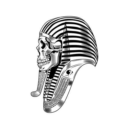 Pharaoh skeleton vector illustration