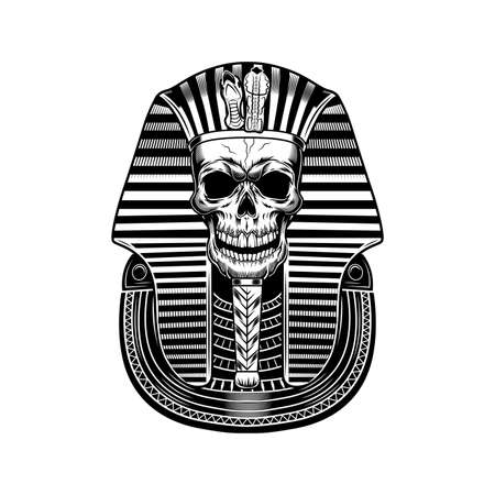 Pharaoh skull vector illustration