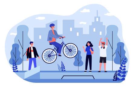 Freestyle bike riding Illusztráció