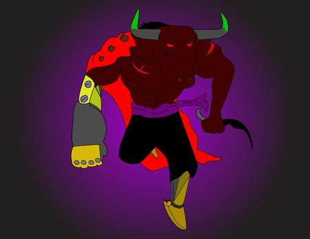 Bull or Toro monster running