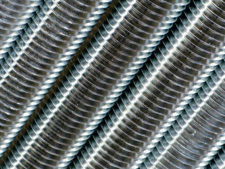 round rods: Close up of screw thread Stock Photo