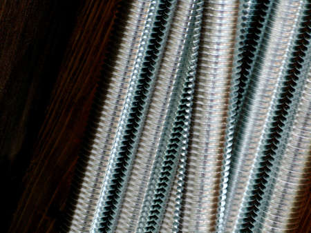 Close up of screw thread photo