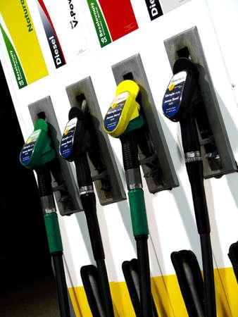 gas station pumps photo