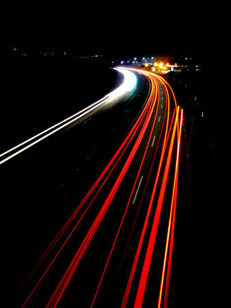 Lights of evening traffic photo
