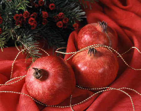 Christmas - decoration - pomegranate Stock Photo - 4137853