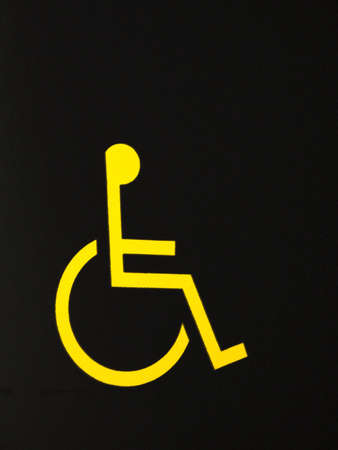 physically: wheel chair access sign
