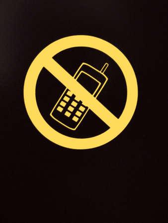 interdiction telephone: Pas de signe d'appel Banque d'images