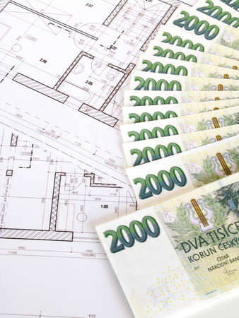 Money - Czech crowns and plans photo