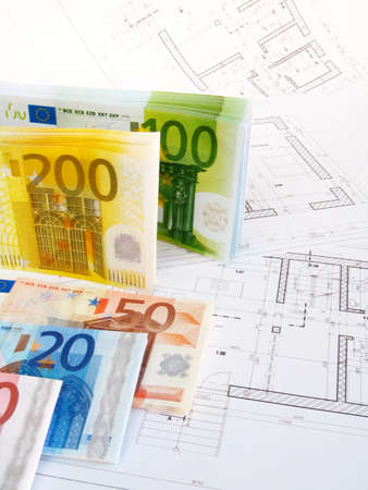 EURO money and plans photo