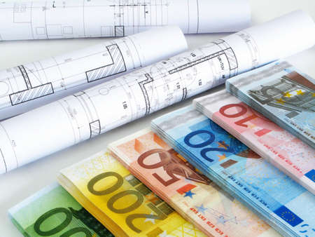 EURO money and plans Stock Photo - 4176120