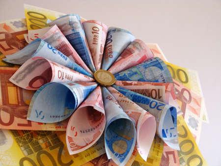 billets euros: EURO note - fleur