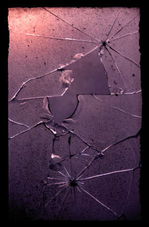 urban decay: abstract background of cracked glass