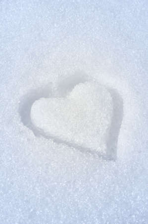 Heart on the snow photo