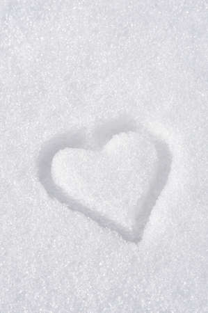 no snow: Heart on the snow Stock Photo