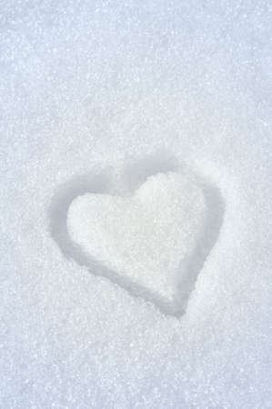 Heart on the snow photo