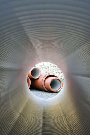 Inside of plumbing tube photo