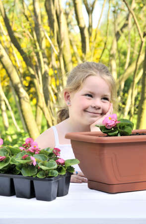 Little girl - gardening Stock Photo - 5604431