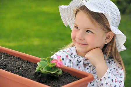 Little girl  - gardening Stock Photo - 5831247
