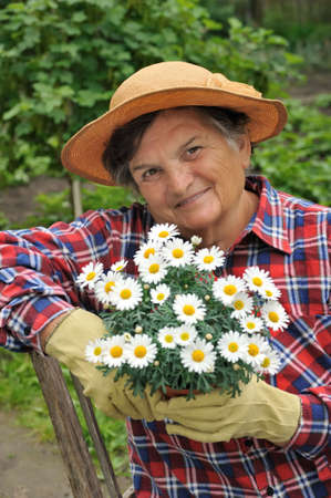 Senior woman gardening Stock Photo - 5994627