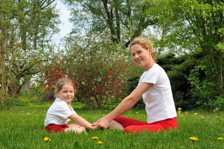 Mother and daughter - training Stock Photo - 6534886