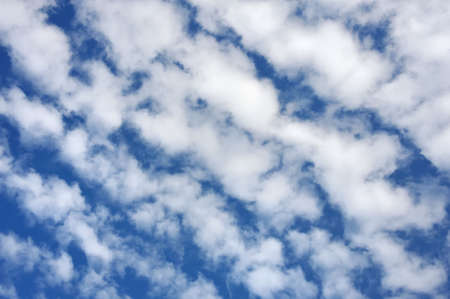 horizont: Cloudscape  - only sky and clouds Stock Photo