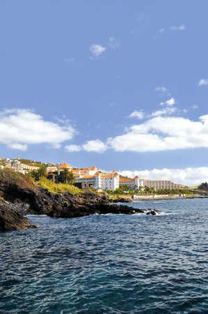 Resort by a rocky beach in Canico de Baixo, hotel Oasis Atlantic, Madeira. photo