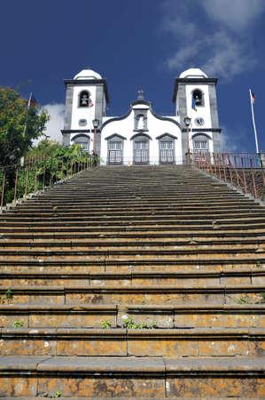 senhora: Nossa Senhora de Monte church, Monte, Madeira, Portugal Stock Photo