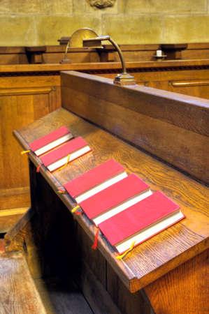Bibles in choir chapel. Saint Vitus Cathedral  Prague, Prague castle, Czech Republic